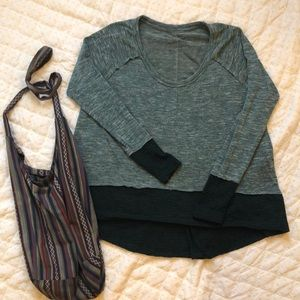 We the free high low teal top